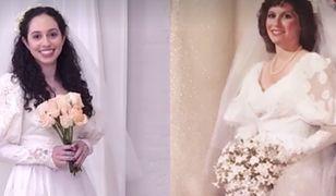 Córki założyły suknie ślubne swoich mam. Efekt przerósł oczekiwania