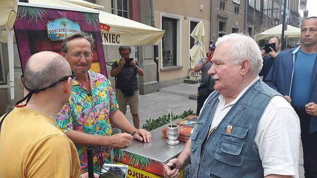 Lech Wałęsa i Wojciech Cejrowski na Jarmarki Dominikańskim