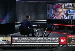 """""""Kompromitująca wypowiedź"""". Dorota Zawadzka krytykuje słowa Rzecznika Praw Dziecka"""