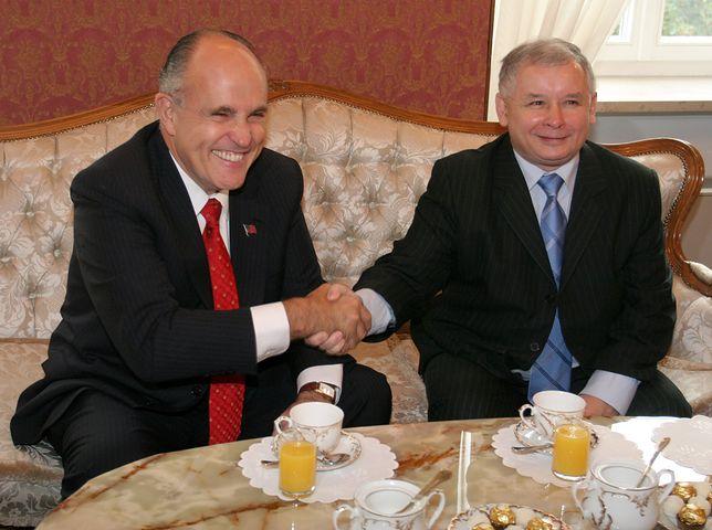 Rudy Giuliani i Jarosław Kaczyński
