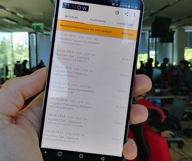 W aplikacji Tikrow można znaleźć pracę na kilka godzin