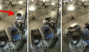 """Szaleńczy """"rajd"""" po Starym Rynku w Chojnicach. Straż Miejska publikuje nagranie"""
