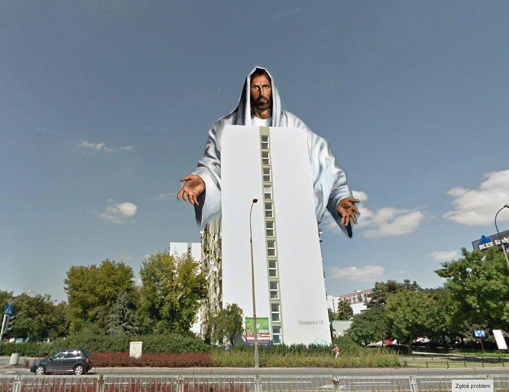 Blok przy Kondratowicza przebudują na wielką postać Jezusa!