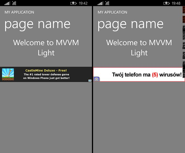 Po lewej AdDuplex, po prawej AdMob (Google)