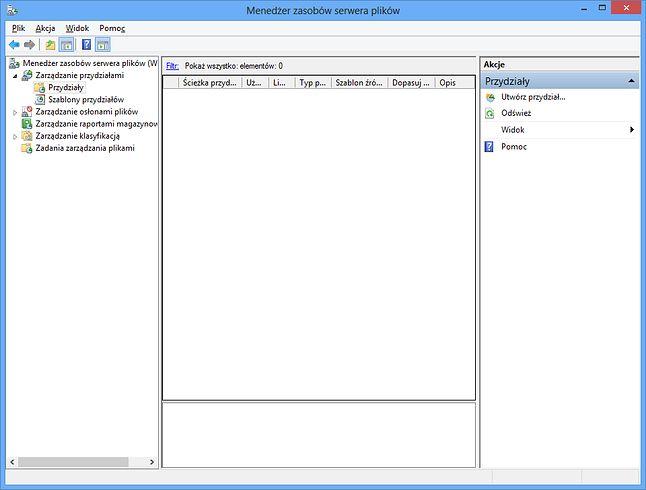 Menedżer zasobów serwera plików
