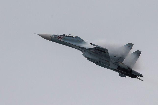 Katastrofa rosyjskiego myśliwca Su-27 na Morzu Czarnym. Trwają poszukiwania pilota