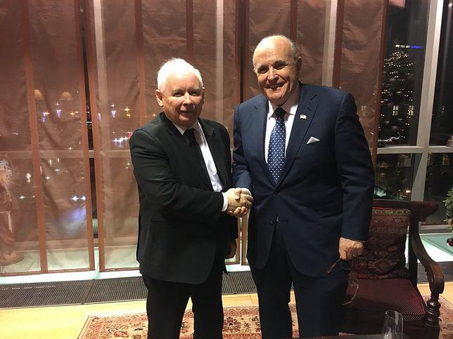"""Rudy Giuliani chwali Kaczyńskiego. """"Walczy o swój kraj"""""""