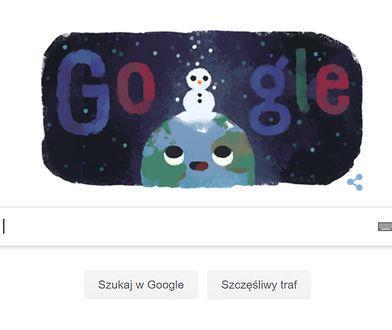 Pierwszy dzień zimy - Google Doodle.