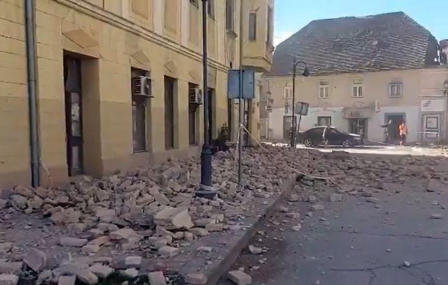 Chorwacja. Trzęsienie ziemi o magnitudzie 6,4. Epicentrum koło Zagrzebia