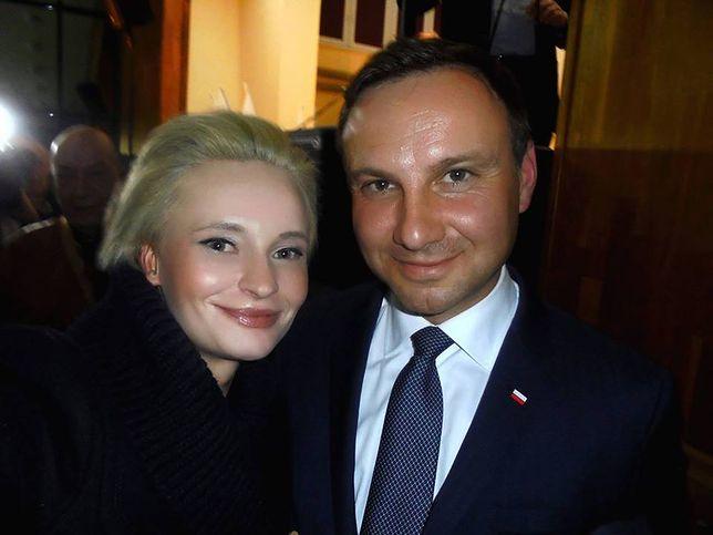 Izabela Pek z prezydentem Andrzejem Dudą