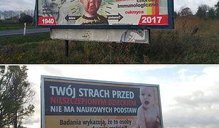 Billboardy antyszczepionkowców