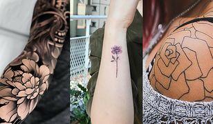 Tatuaże kwiaty w wersjach czarnej i kolorowej niezmiennie zachwycają