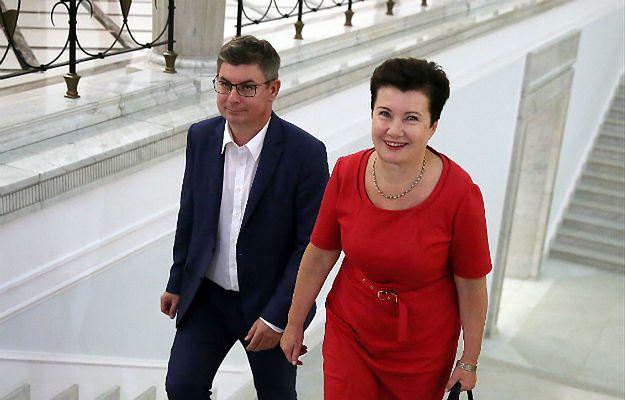 Jan Grabiec i Hanna Gronkiewicz-Waltz