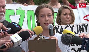 """Protest 13-letniej Ingi. """"Nie mówcie o mnie, tylko o zmianach klimatu"""""""
