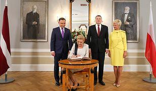 Para prezydencka z wizytą na Łotwie