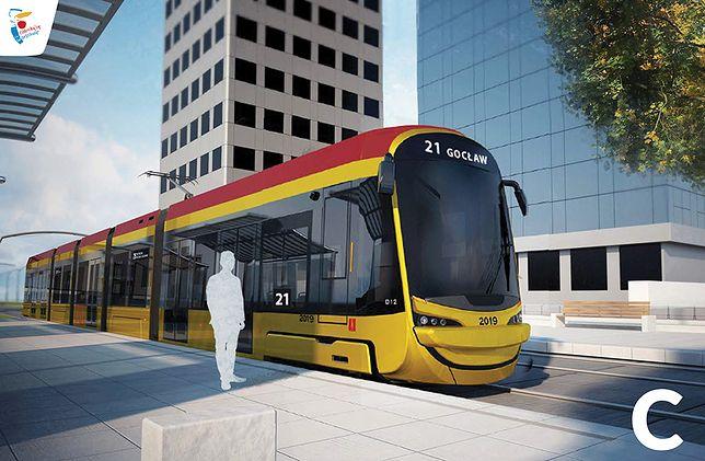 Warszawa. Mieszkańcy stolicy wybrali wygląd 213 nowych tramwajów. Na zdjęciu zwycięski model