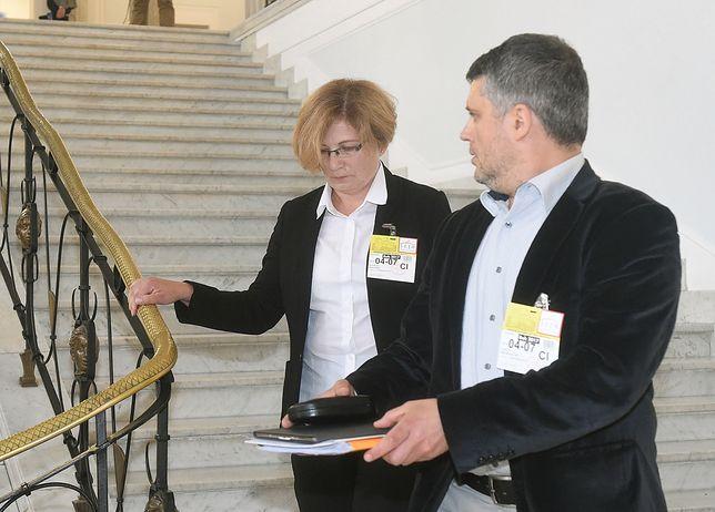 Prok. Kijanko ze swoim pełnomocnikiem Marcinem Kradzieckim
