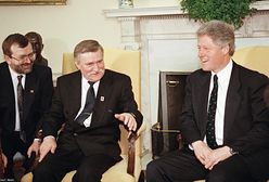 """Odtajniono rozmowę Billa Clintona z Lechem Wałęsą. """"Polska nie może pozostać bezbronna"""""""