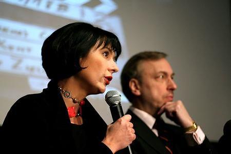 Agnieszka Odorowicz i minister kultury Bogdan Zdrojewski