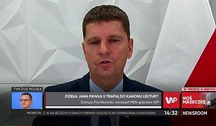 """""""Newsroom"""" WP. Wiceminister MEN Dariusz Piontkowski: """"Jan Paweł II to wspaniała postać, wielki Polak"""""""