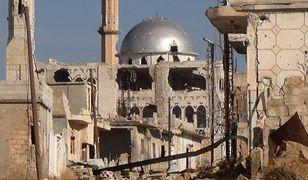 Zniszczenia wojenne w mieście Hama