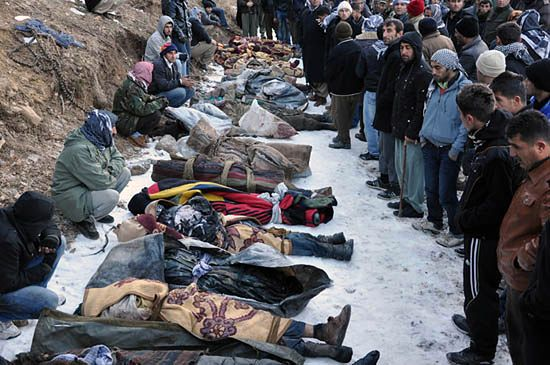 Masakra na wsi, zabili 35 osób - zdjęcia