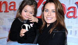 Natasza Urbańska z córką Kaliną w 2013 roku