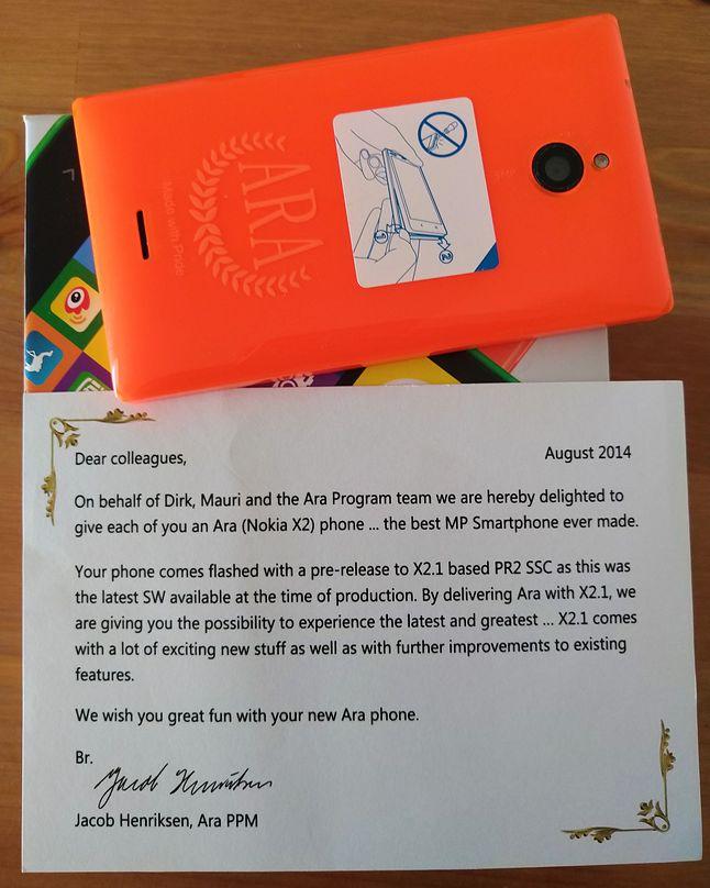 Prototyp smartfonu Nokia X2 z systemem Android, fot. reddit (jollycode)