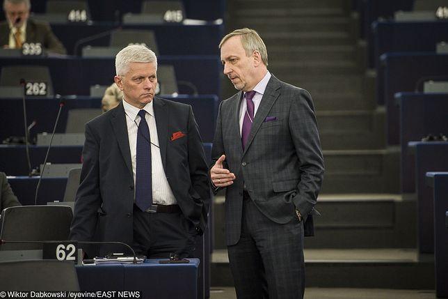 Wybory parlamentarne. Byli europosłowie - Andrzej Grzyb z PSL i Bogdan Zdrojewski z PO.