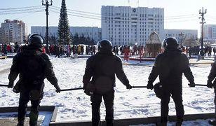Rosja. Protestowali w obronie Nawalnego przy -50 stopniach