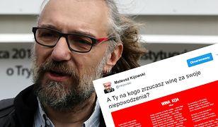 """""""Gdy blokuje się uryna - wina Kija"""". Kijowski publikuje wiersz o... sobie"""