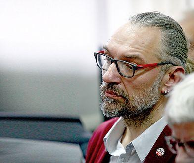 Mateusz Kijowski we wtorek stanął przed sądem w Pruszkowie