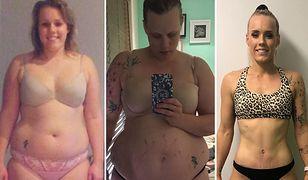 Natalie przed ciążą, po trzech porodach i obecnie