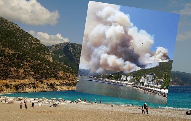 Turcja. Gigantyczny pożar lasu. Dym nad kurortem Marmaris
