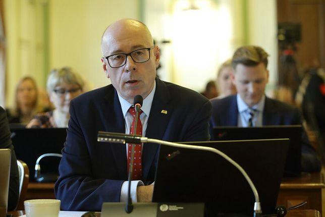 Kazimierz Koralewski (PiS) podczas sesji Rady Miasta Gdańska