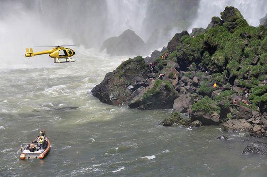 Tragedia nad wodospadem, zginęli turyści - zdjęcia
