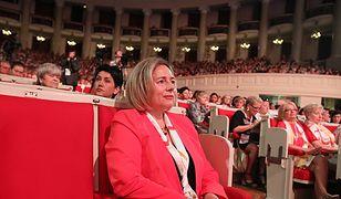 Posłanka Wanda Nowicka podczas V. Kongresu Kobiet w Sali Kongresowej