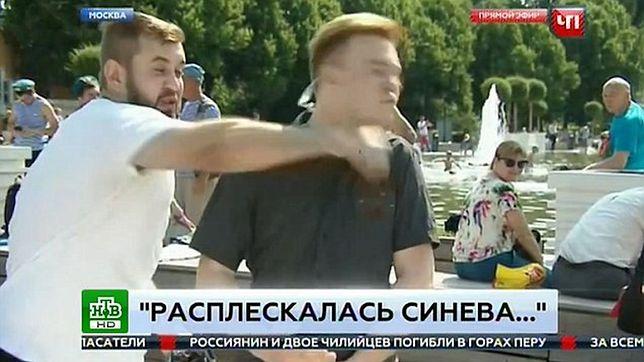 Rosyjski reporter pobity w programie na żywo