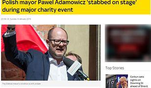 Zagraniczne media o ataku nożownika na prezydenta Gdańska Pawła Adamowicza