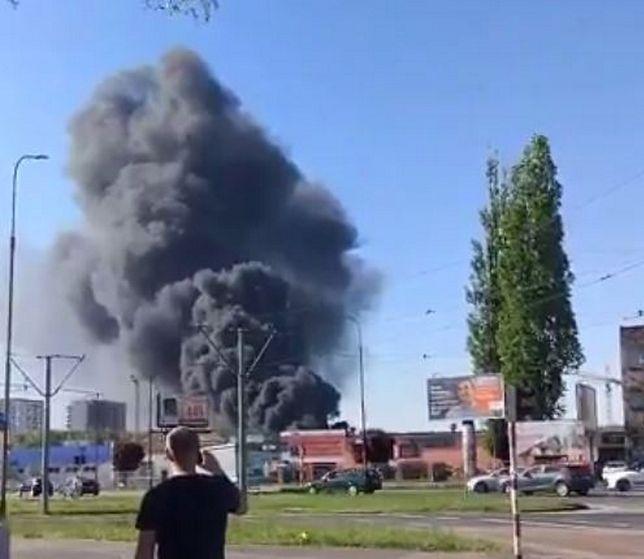 Ogromy pożar w centrum Wrocławia. Ewakuowano okolicznych mieszkańców