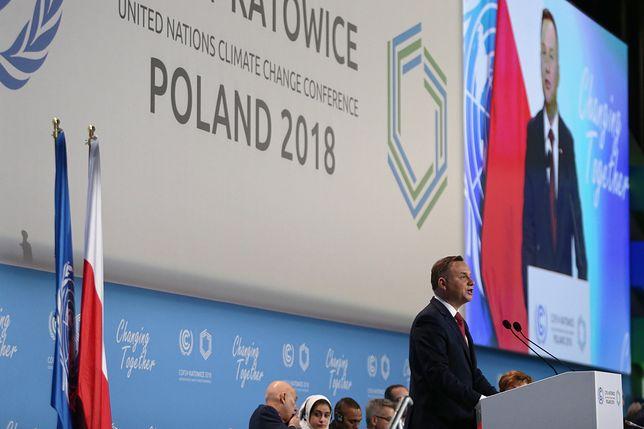 Szczyt klimatyczny w Katowicach ruszył w poniedziałek rano. Otworzył go prezydent Andrzej Duda