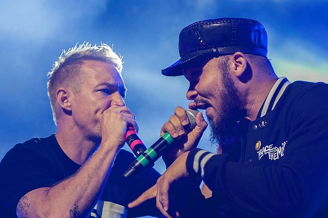 Diplo i Walshy Fire z Major Lazer podczas Flow Festival w Helsinkach w sierpniu 2015 roku.