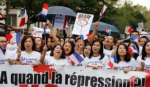 Tysiące Chińczyków domagały się w Paryżu bezpieczeństwa