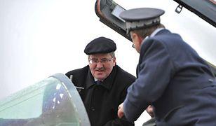 Prezydent u lotników