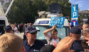 Interwencja policji podczas demonstracji w obronie sądownictwa.