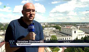 """Jarosław Olechowski, reporter """"Wiadomości"""" TVP"""
