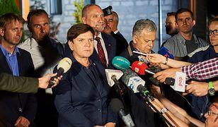 Premier Beata Szydło na terenach poszkodowanych przez nawałnicę