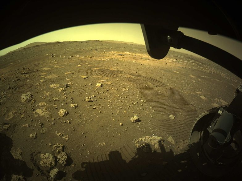 Pierwsza jazda Perseverance po Marsie