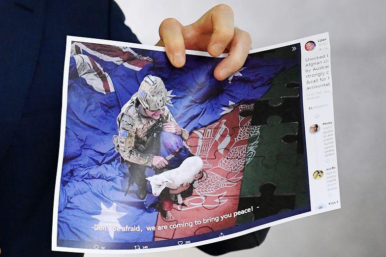 Żołnierz trzymał nóż przy gardle dziecka? Międzynarodowy skandal
