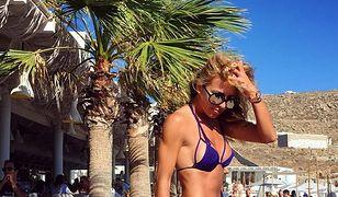 Ewa Chodakowska w bikini z kilku pasków
